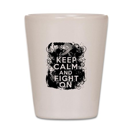 Diabetes Keep Calm Fight On Shot Glass