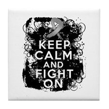 Diabetes Keep Calm Fight On Tile Coaster