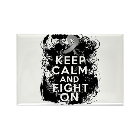 Diabetes Keep Calm Fight On Rectangle Magnet
