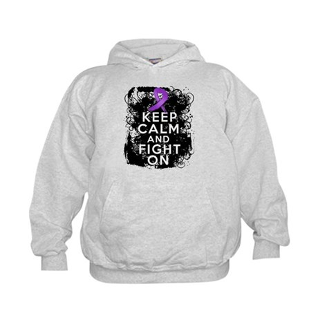 Cystic Fibrosis Keep Calm Fight On Kids Hoodie