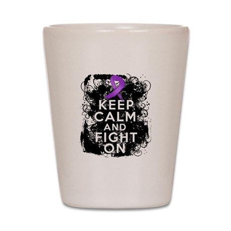 Cystic Fibrosis Keep Calm Fight On Shot Glass