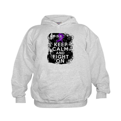 Crohns Disease Keep Calm Fight On Kids Hoodie