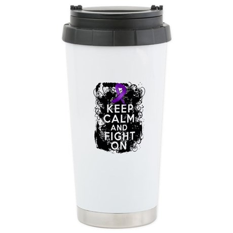 Crohns Disease Keep Calm Fight On Ceramic Travel M