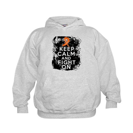 COPD Keep Calm Fight On Kids Hoodie