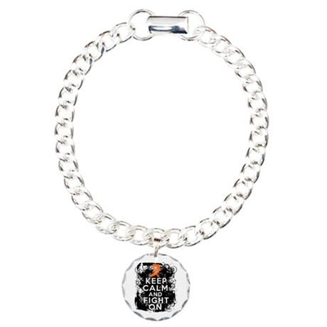 COPD Keep Calm Fight On Charm Bracelet, One Charm