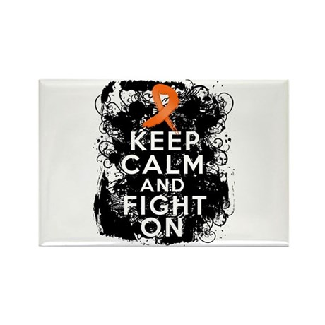 COPD Keep Calm Fight On Rectangle Magnet