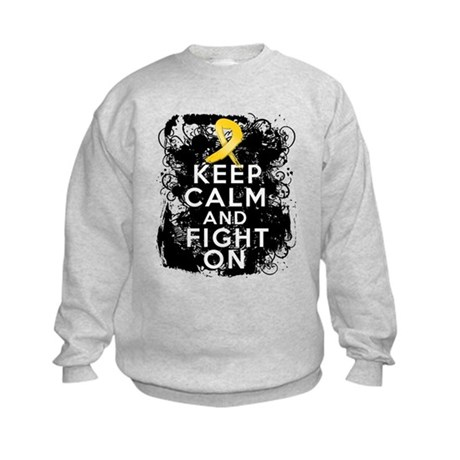 Childhood Cancer Keep Calm Fight On Kids Sweatshir