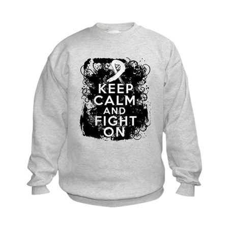 Bone Cancer Keep Calm Fight On Kids Sweatshirt