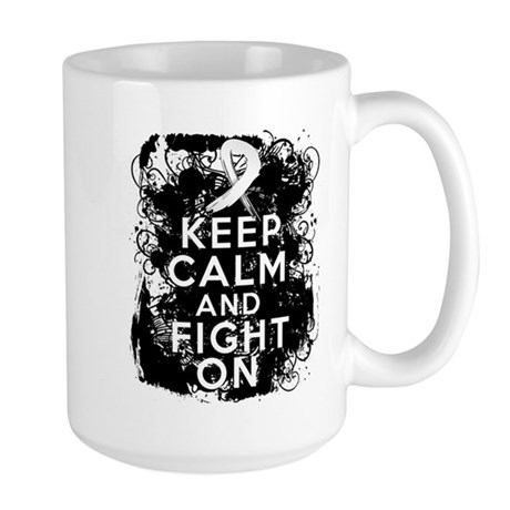 Bone Cancer Keep Calm Fight On Large Mug