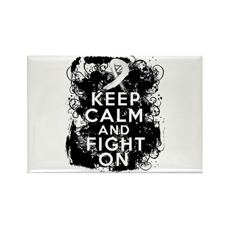 Bone Cancer Keep Calm Fight On Rectangle Magnet