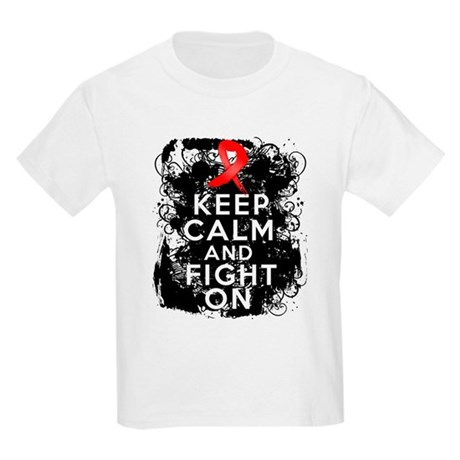 Blood Cancer Keep Calm Fight On Kids Light T-Shirt