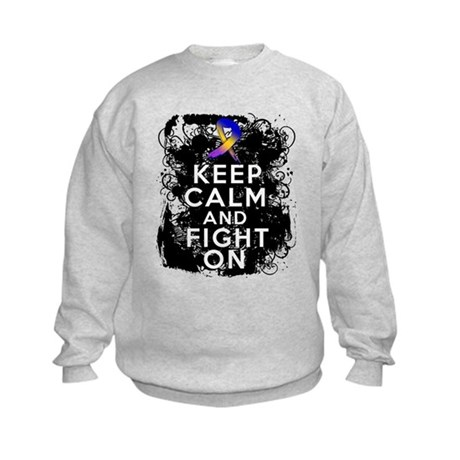 Bladder Cancer Keep Calm Fight On Kids Sweatshirt
