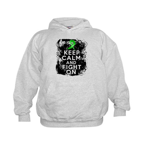 Bile Duct Cancer Keep Calm Fight On Kids Hoodie