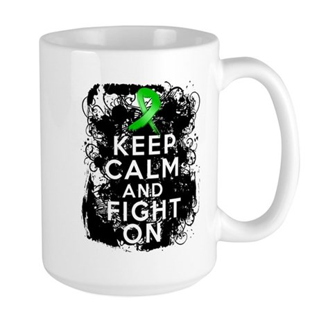 Bile Duct Cancer Keep Calm Fight On Large Mug