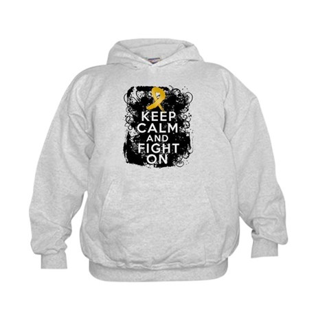 Appendix Cancer Keep Calm Fight On Kids Hoodie