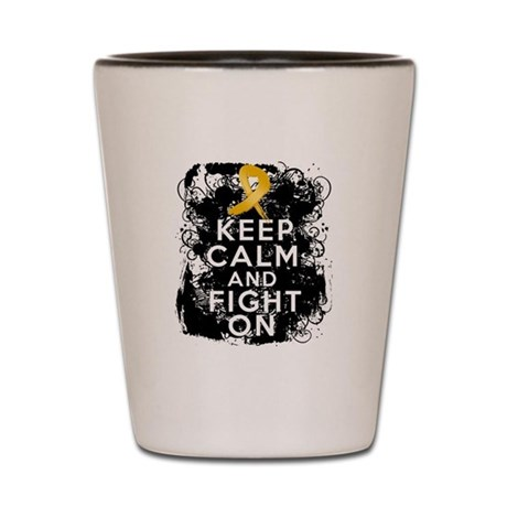 Appendix Cancer Keep Calm Fight On Shot Glass