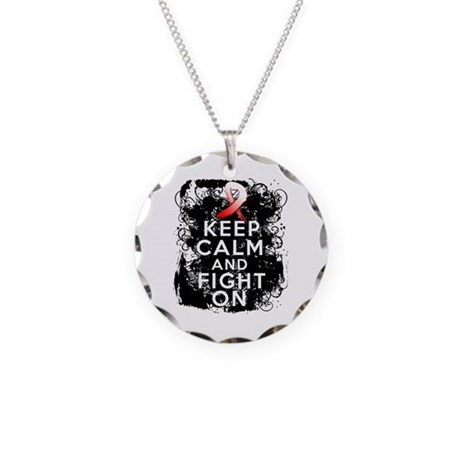 Aplastic Anemia Keep Calm Fight On Necklace Circle