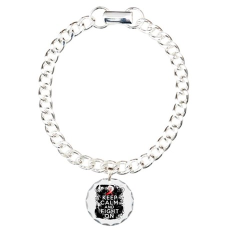 Aplastic Anemia Keep Calm Fight On Charm Bracelet,
