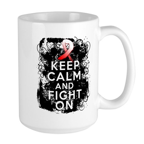Aplastic Anemia Keep Calm Fight On Large Mug