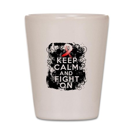 Aplastic Anemia Keep Calm Fight On Shot Glass