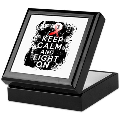 Aplastic Anemia Keep Calm Fight On Keepsake Box