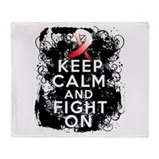 Aplastic Anemia Keep Calm Fight On Throw Blanket