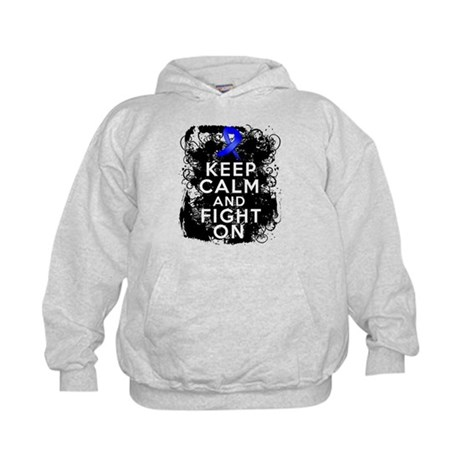 Anal Cancer Keep Calm Fight On Kids Hoodie