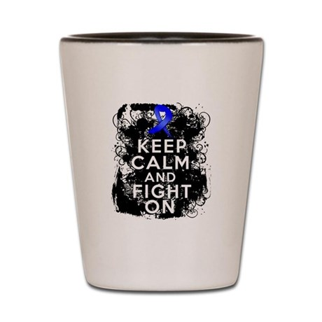 Anal Cancer Keep Calm Fight On Shot Glass