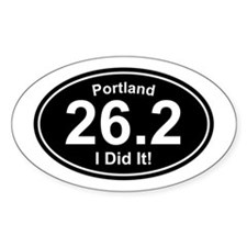 Portland Marathon Rectangle Decal