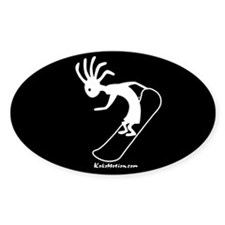 Kokopelli Snowboarder Oval Decal