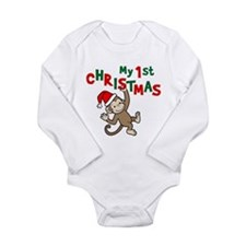 My First Christmas - Monkey Body Suit