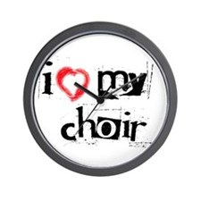 I *heart* my choir! Wall Clock