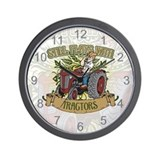 Still Plays with Red Tractors Wall Clock