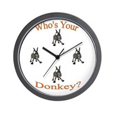 Cute Donkey Wall Clock