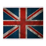 UK British English Union Jack Throw Blanket