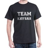 Team Kaysar White Black T-Shirt