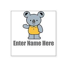 Personalized Koala Bear Square Sticker 3