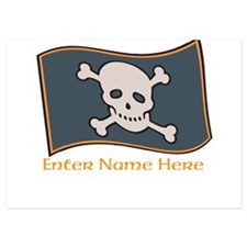 Personalized Pirate Flag Invitations