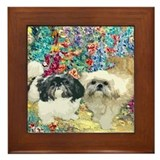 Shih Tzu Fine Art Bijou &amp; Asti Framed Tile