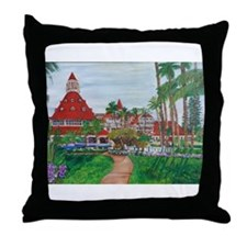 Coronado Hotel Del Throw Pillow