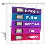 Binders Full of Women for Obama Shower Curtain