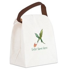 Personalized Dragon Canvas Lunch Bag