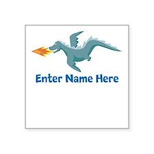 Personalized Dragon Square Sticker 3