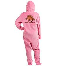 Personalized Stegosaurus Footed Pajamas