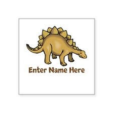 Personalized Stegosaurus Square Sticker 3