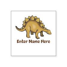 """Personalized Stegosaurus Square Sticker 3"""" x 3"""""""