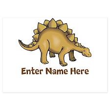 Personalized Stegosaurus Invitations