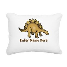 Personalized Stegosaurus Rectangular Canvas Pillow