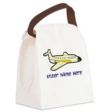 Personalized Airplane Canvas Lunch Bag