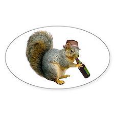 Squirrel Beer Hat Bumper Stickers